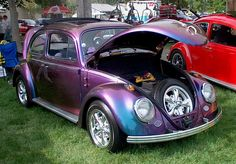Cool color of a VW Bug for lovely Yvonne from down under!