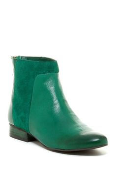 Never The Same Bottle Green Suede & Leather Bootie by Seychelles on @HauteLook ... pair with dark jeans for fall, white jeans for late summer or spring