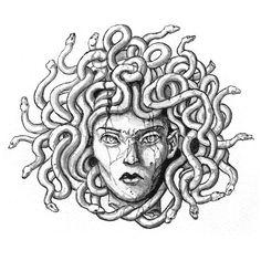 Wolf Tattoos, Finger Tattoos, Body Art Tattoos, Medusa Tattoo Design, Tattoo Designs, Medusa Kunst, Medusa Art, Tatto Ink, I Tattoo