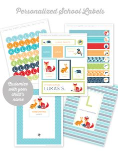 #Backtoschool #Scandinavian  Free printable school supply labels at http://liagriffith.com/printable-school-supply-labels-for-girls-and-boys/