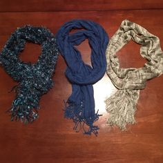 Scarfs Three scarfs used. In good condition. Accessories Scarves & Wraps