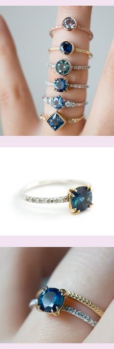 Montana Sapphire Engagement Ring by S. Kind & Co.