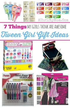 Some great ideas for gifts for tween age groupGift ideas for tween girls for christmas or brithdays, girl gift ideas or stocking stuffers some of these ideas might surprise you