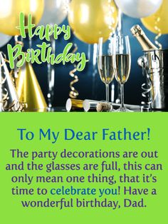 135 Best Birthday Cards For Father Images