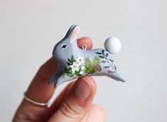 These little festive floral rabbits will be available in my upcoming shop update on Tuesday the 14th of November #charmingcreatures