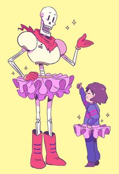 Papyrus and Frisk - Undertale