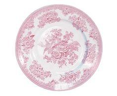 Pink Asiatic Pheasant Dessert Plate
