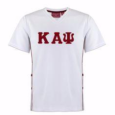 7b2095ed49 Kappa Alpha Psi V-Neck Jersey Shirt (Krimson)