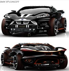 BMW X9 Concept Car - I don't actually like this, but there are one or two aspects that are relevant to my current design-study project
