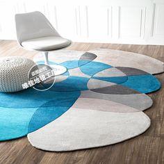 High quality multicolour irregular living room coffee table handmade carpet…
