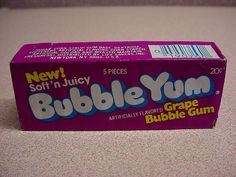 grape Bubble Yum ~ gum without aspartame!!! The second flavor they made.
