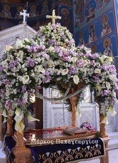Church Flower Arrangements, Church Flowers, Floral Arrangements, Orthodox Easter, Greek Easter, Decoupage Box, Holy Week, Ikebana, Christmas Tree