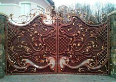 Кованые ворота в стиле модерн. Город Хмельницкий