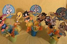 Baby Looney Tune Centerpiece | Etsy Looney Tunes Party, Baby Looney Tunes, Birthday Decorations, Baby Shower Decorations, Bugs And Lola, Baby Bug, Birthday Cake Toppers, Boy Shower, 1st Birthday Parties