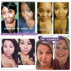 All women are pretty without makeup but can be pretty powerful with the right type of makeup.  You have seen my before and after photos time to see other beautiful women using Younique   www.lashesbytrish.com Order your Cloud 9 collection for your transformation today!