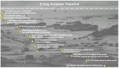 A timeline about D-Day and what happened during the day.