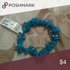 Teal bracelet NWT stretchy Jewelry Bracelets