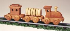 Woodworking Projects For Kids Small Train Plan - Our Small Train will make the perfect toy for any little one between the ages of They'll have hours of fun pushing this train around. Our Small Train Plan will help you get started. Woodworking School, Woodworking Garage, Woodworking For Kids, Woodworking Workshop, Easy Woodworking Projects, Woodworking Classes, Woodworking Beginner, Woodworking Jointer, Intarsia Woodworking