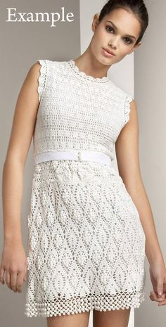 Crochet dress Sleeveless