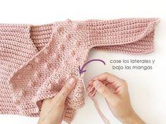 Crochet baby 437552920049867262 - NEO Crochet Baby Kimono Jacket [ Baby Knitting Pattern & Tutorial ] Source by memerewindel Kimono Pattern Free, Crochet Baby Cardigan Free Pattern, Crochet Baby Sweaters, Crochet Baby Clothes, Crochet Jacket, Baby Knitting Patterns, Jacket Pattern, Baby Clothes Patterns, Baby Patterns
