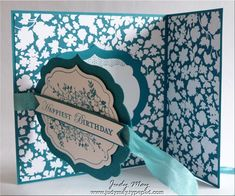 Joy Fold card made with spellbinders
