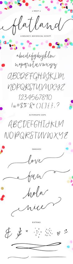 Flatland Modern Calligraphy Font by Angie Makes