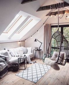 Cute Apartment Bedroom Ideas Will Love – Decorating Ideas - Home Decor Ideas and Tips Cute Apartment, Apartment Layout, Apartment Living, Apartment Ideas, Loft Room, Retro Home Decor, Deco Design, Home And Deco, Dream Rooms
