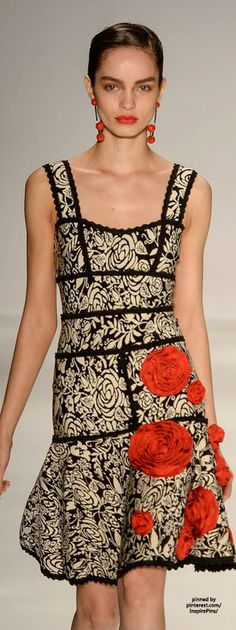 Lolitta SS2015 #PurelyInspiration- Think this would look better with only horizontal trim- So much going on here!!!