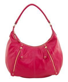 Take a look at this Fuchsia Tribecca Hobo by Erica Anenberg on #zulily today!