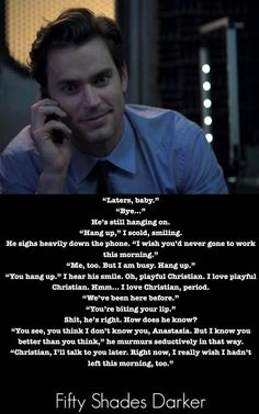 For fans of Matt Bomer as Christian in #FiftyShadesofGrey by E L James