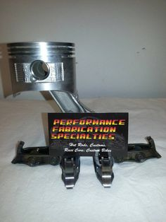 Industrial Inspired Small Engine Rod and Piston Business Card Holder by innovativedesignspec@etsy.com
