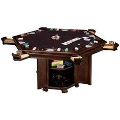 Mahogany Round Poker Table Sku 493366 Hobbzimmer