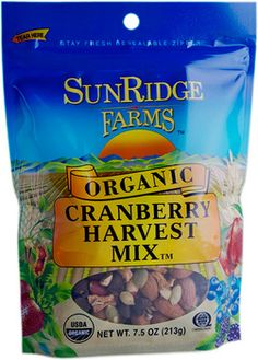 Cranberry Harvest Trail Mix 7.5oz - Oh My Green!