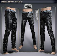 9e2e145c 6 Colors Leather Trousers Men 2018 Mens Pants Leather Fashion High Quality  PU Material Zipper Skinny