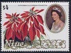 Stamp: Poinsettia (Niue) (Flowers) Mi:NU 409,Sn:NU 332