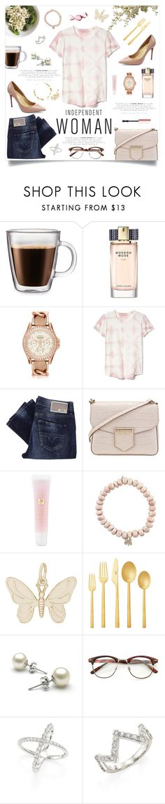 """""""Fav Tee"""" by linmari ❤ liked on Polyvore featuring Frontgate, Estée Lauder, FOSSIL, Gap, Diesel, Meli Melo, Givenchy, Lancôme, Sydney Evan and Rembrandt Charms"""