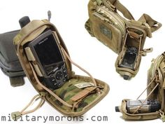 Multi-purpose micro rig with the EMDOM-MM GPS Pouch and the MSM Stealth Util / Admin Pouch.