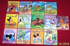 13 Disney Babies Board Books~Mickey~Donald~Goofy~Toddler~Preschool Ages 2-6