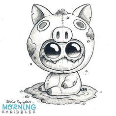 2,117 отметок «Нравится», 8 комментариев — Chris Ryniak (@chrisryniak) в Instagram: «Happy as a pig in mud. #morningscribbles»