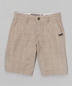 Khaki Plaid Walk Shorts - Toddler & Boys