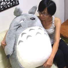 Super-Size Totoro Plush - from My Neighbor Totoro featured on Jzool.com    Get me this and we will be friend buds forever