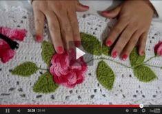 Receitas de Minuto: Aprenda a como fazer aplicação de flores e folhas em trabalhos de crochê. passo a passo