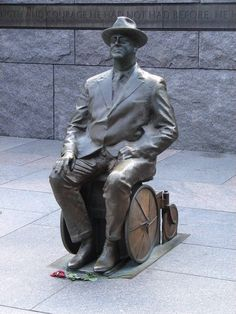 FDR suffered from polio and sat in a wheelchair. The FDR memorial was the first monument in Washington, DC designed to be wheelchair accessible.