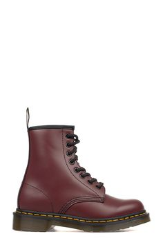 fa2aee61b00 DR. MARTENS BORDEAUX BRUSHED LEATHER LOW BOOT. #dr.martens #shoes #