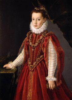 Sofonisba Anguissola (Italian, c. 1532 – 1625): Portrait of a Young Lady (1560) (via Wikimedia Commons)