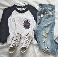 Chucks, denim, a graphic tee, and accessories.