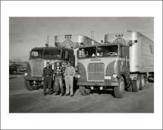 Look at the old and the new of  an era when trucks were great