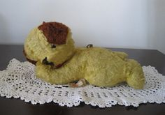 Vintage 1960s Wind Up Stuffed Dog Ideal Toy by StaceyCarlisleVntg, $19.00