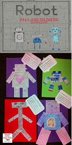 Area and perimeter robots! A fun math craft that students LOVE!