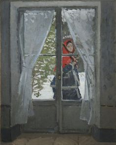 The Red Kerchief ca. 1868-1873 Claude Monet (French, 1840-1926) oil on fabric, Framed - h:128.27 w:105.73 d:14.60 cm (h:50 1/2 w:41 5/8 d:5 11/16 inches) Unframed - h:99.00 w:79.80 cm (h:38 15/16 w:31 3/8 inches). Bequest of Leonard C. Hanna, Jr. | Cleveland Museum of Art